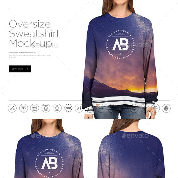 Oversize Sweatshirt Mock-up