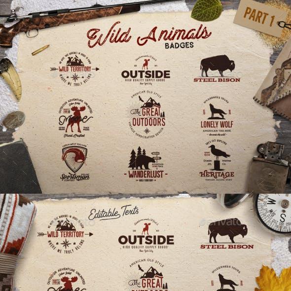 Wild Animals Badges [Part 1]