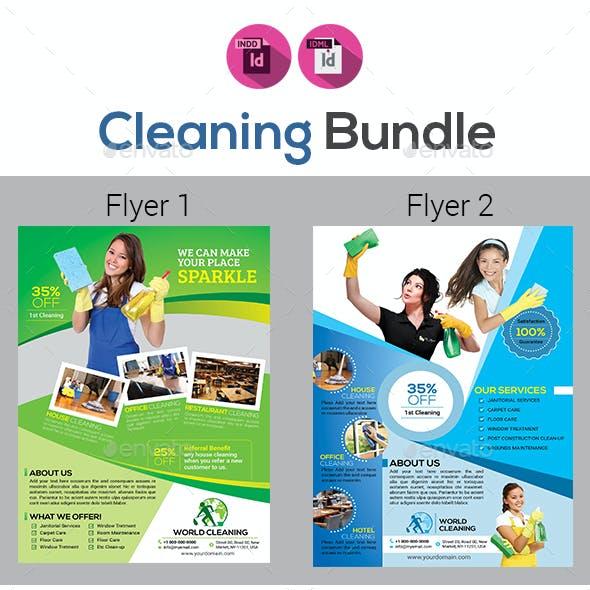 Cleaning Service Flyer Bundle V2