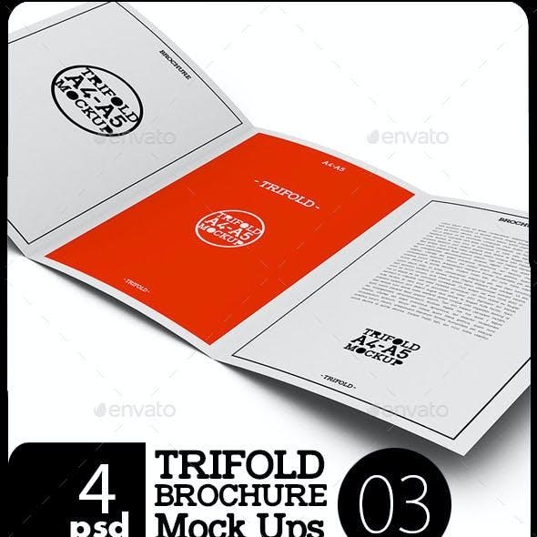 A4 / A5 Tri-Fold Brochure Mock-03