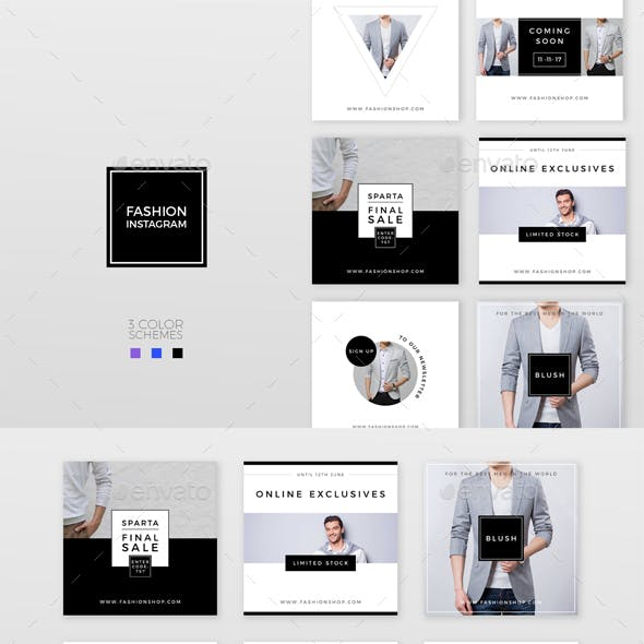 Fashion Instagram – 3 Color Schemes