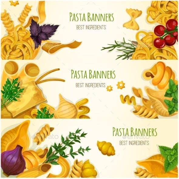 Italian Pasta Banner Set