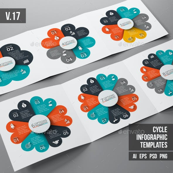 Infographics template set v.17