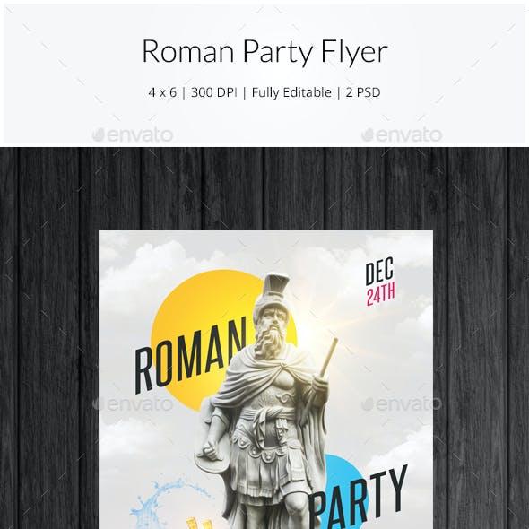 Roman Party Flyer