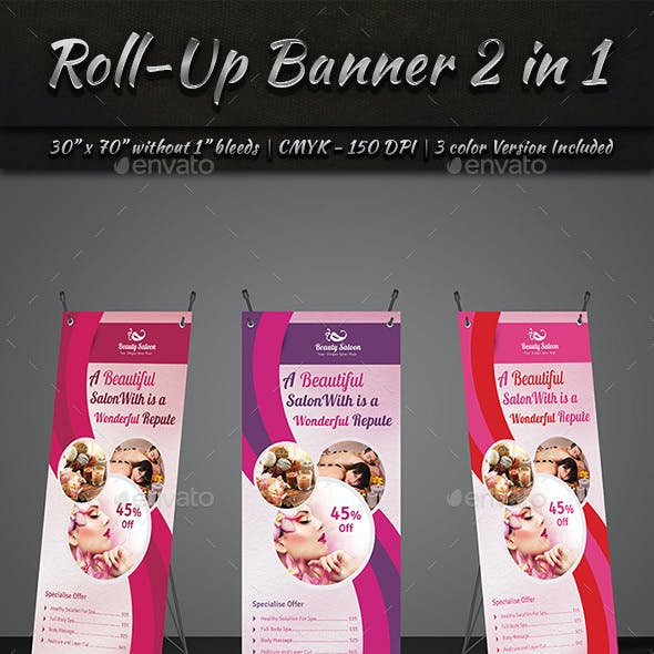 Roll-Up Banner 2 in 1