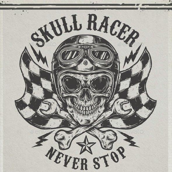 SKULL RACER T-SHIRT