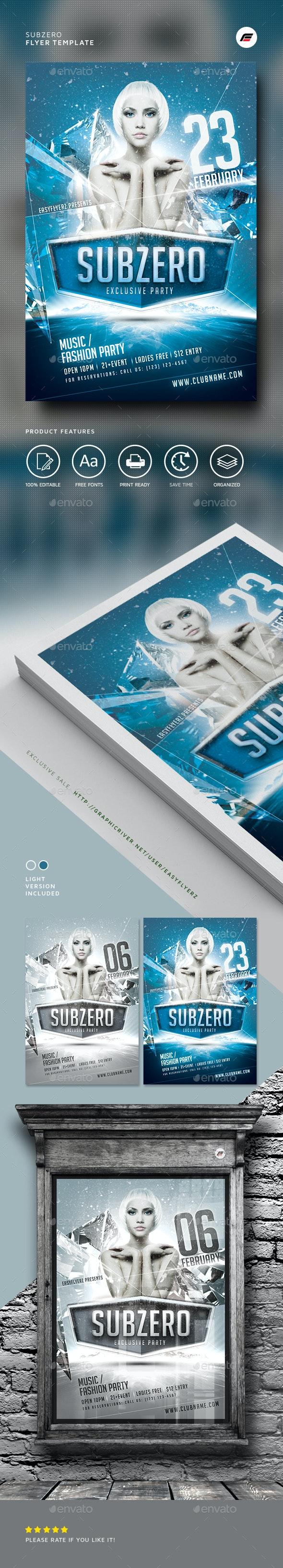 Subzero Winter Flyer Template - Events Flyers