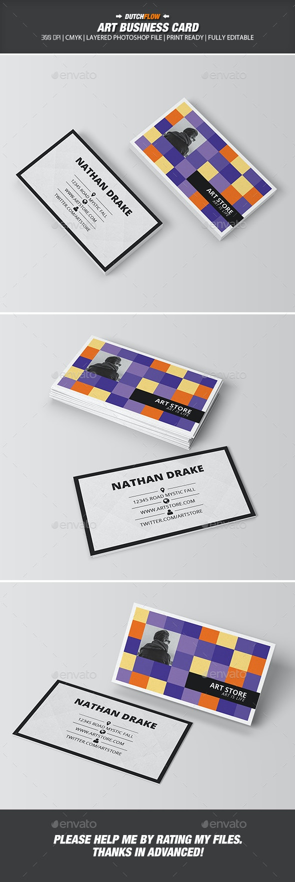 Art Business Card - Industry Specific Business Cards