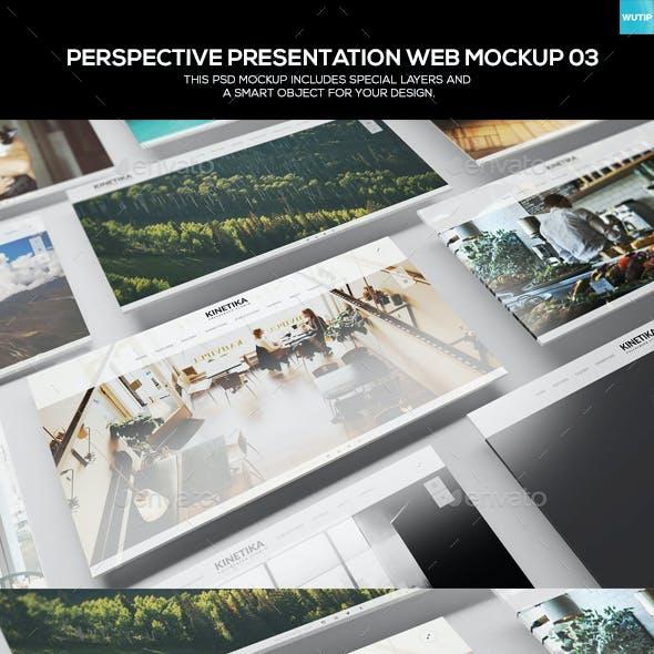 Perspective Presentation Web Mockup 03
