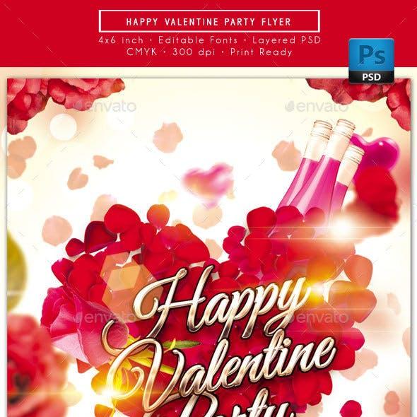 Happy Valentine Party Flyer