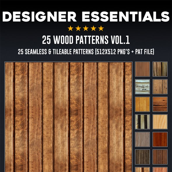 25 Tileable / Seamless Wood Patterns
