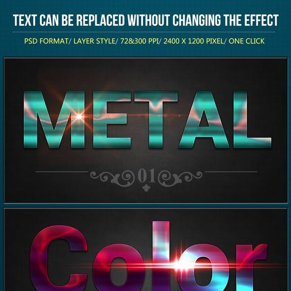 Colorful Metal Text Effects V1