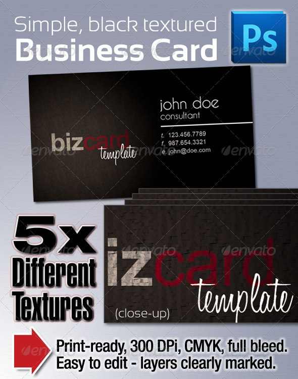 Moody Black Business Cards - Corporate Business Cards