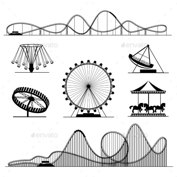 Amusement Ride or Luna Park Roller Coasters