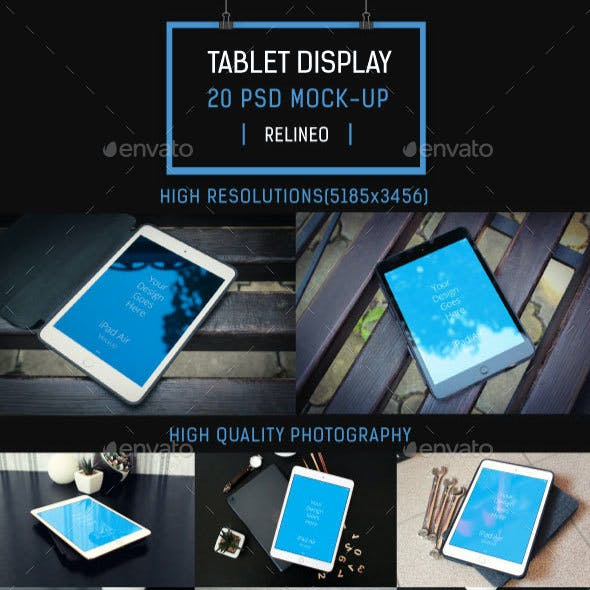 Tablet Display Mock-up Pack Vol.1