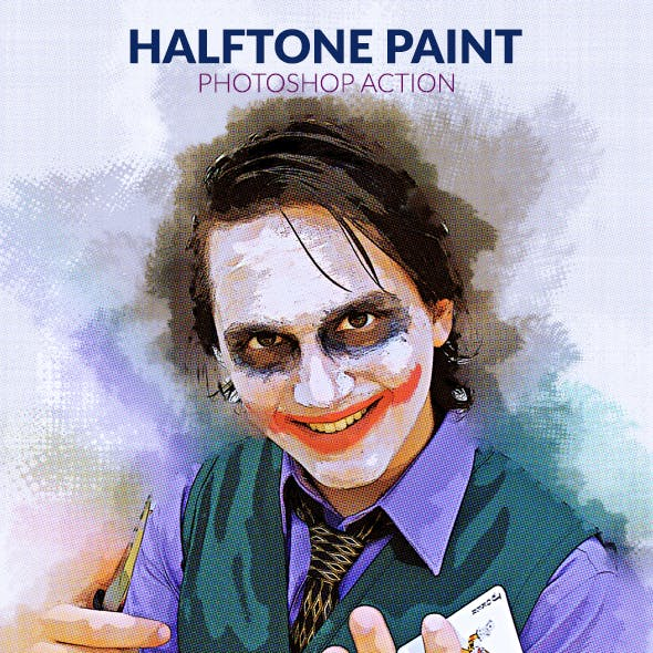 Halftone Paint Photoshop Action