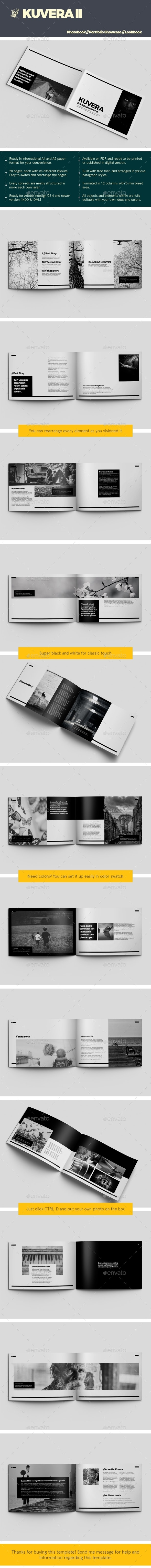 Kuvera II A4 & A5 Photobook & Portfolio Showcase - Photo Albums Print Templates