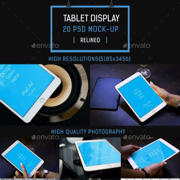 Tablet Display Mock-up Pack Vol.2