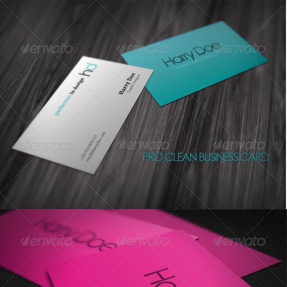 Pro Clean Business Card
