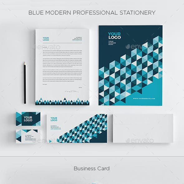 Blue Modern Professional Stationery