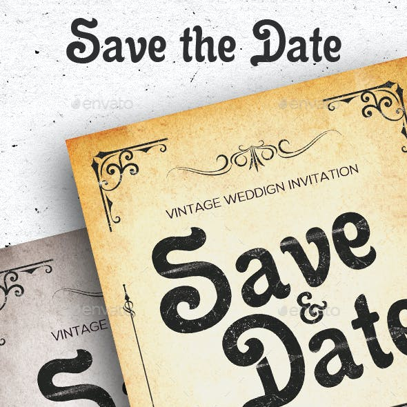 Save the Date Vintage Post Card
