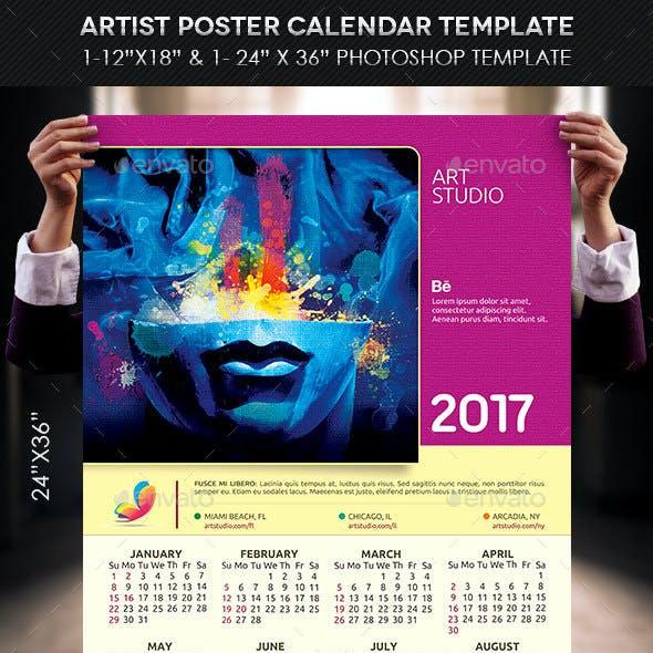 Artist Poster Calendar Template