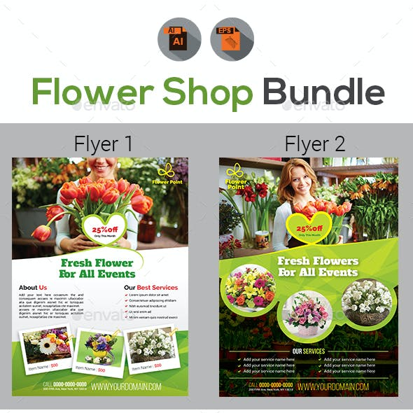 Flower Shop Flyer Bundle