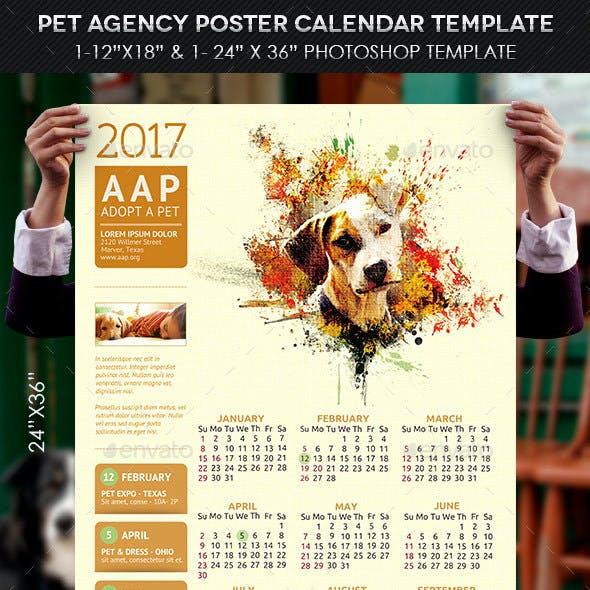 Pet Agency Poster Calendar Template