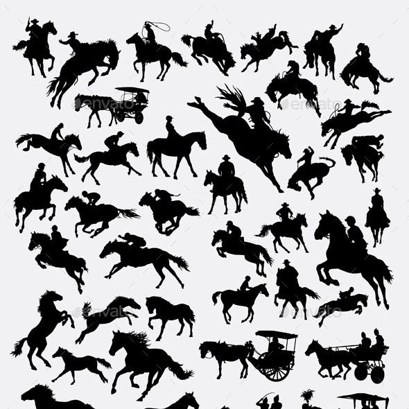 Horses Collection Silhouette