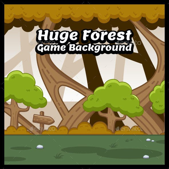 Huge Forest Nature Game Background