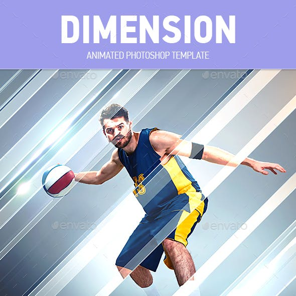 Dimension Animated Photoshop Photo Template