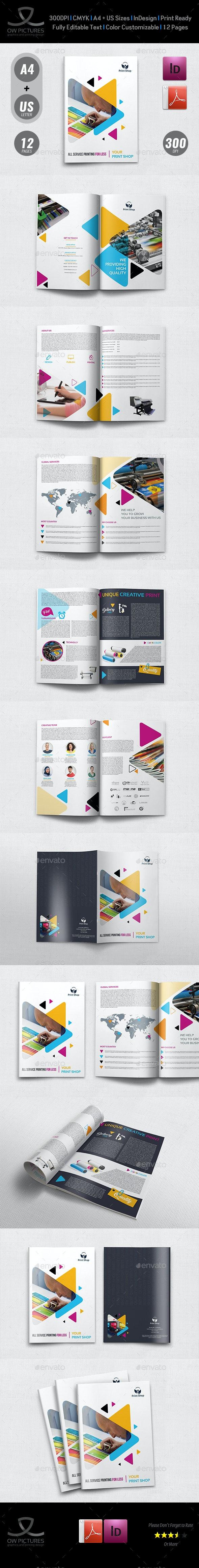Print Shop Brochure Template - 12 Pages - Brochures Print Templates