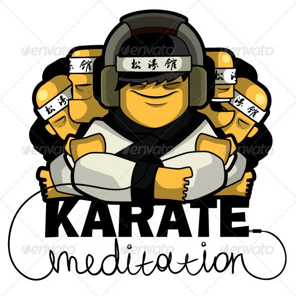 Karate music - Characters Vectors