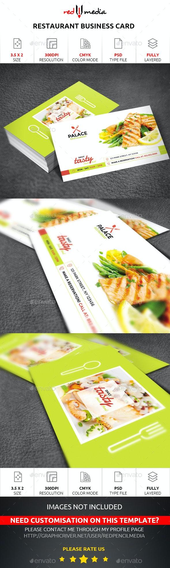 Restaurant Business Card - Business Cards Print Templates