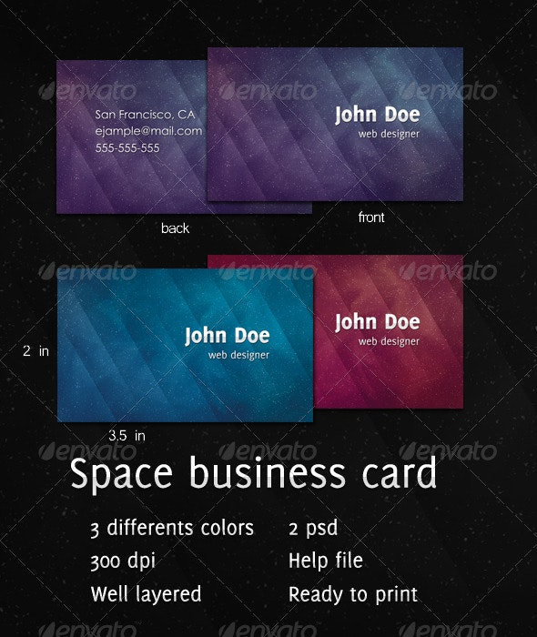 Space Business Card - Corporate Business Cards