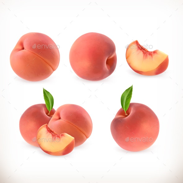PeachIcons Set - Food Objects