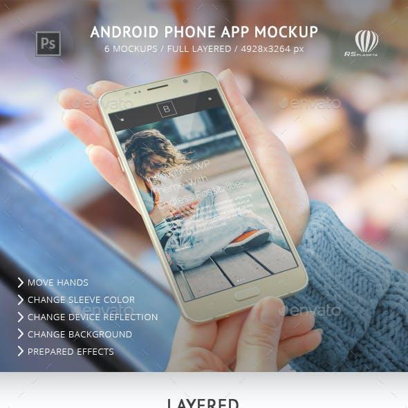 Phone App Mockup