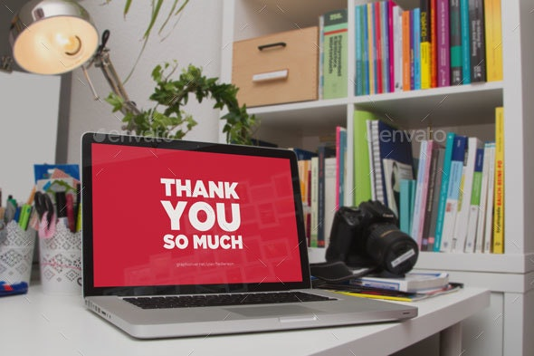 Laptop on Desk Mockup - Laptop Displays