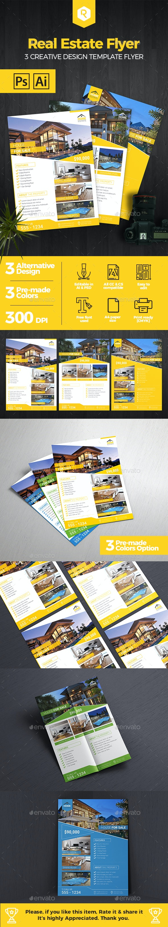 Premium Real Estate Flyer Template - Commerce Flyers
