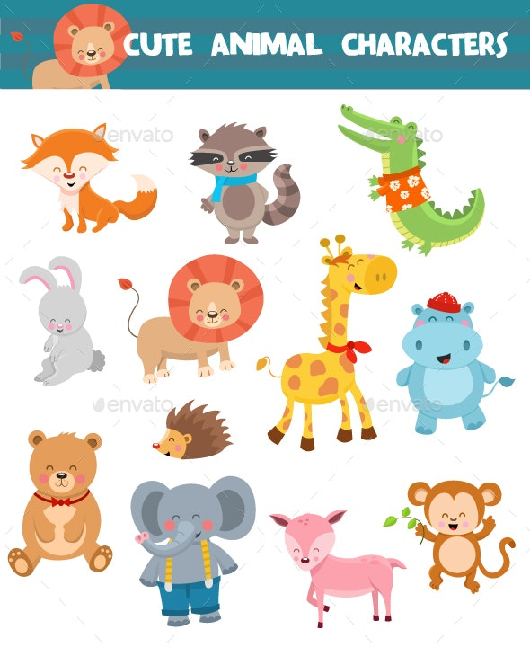 Cute Animal Characters Collection - Animals Characters