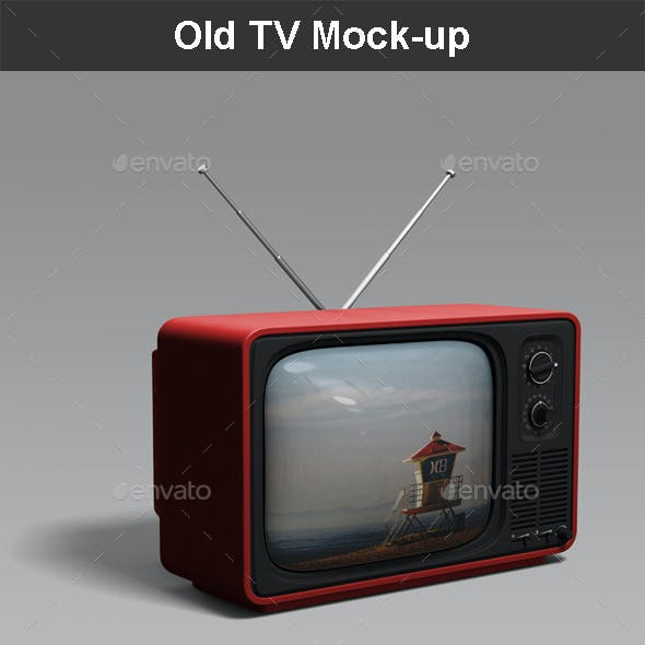 Old TV Mock-up