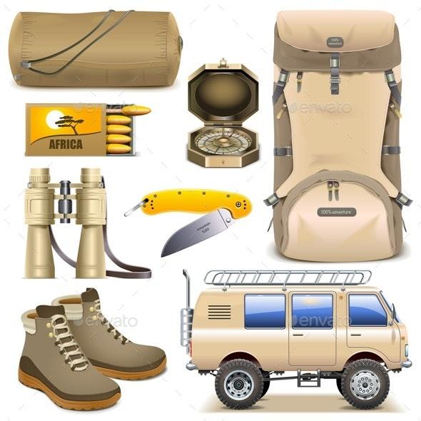 Safari Icons Set 2 - Travel Conceptual