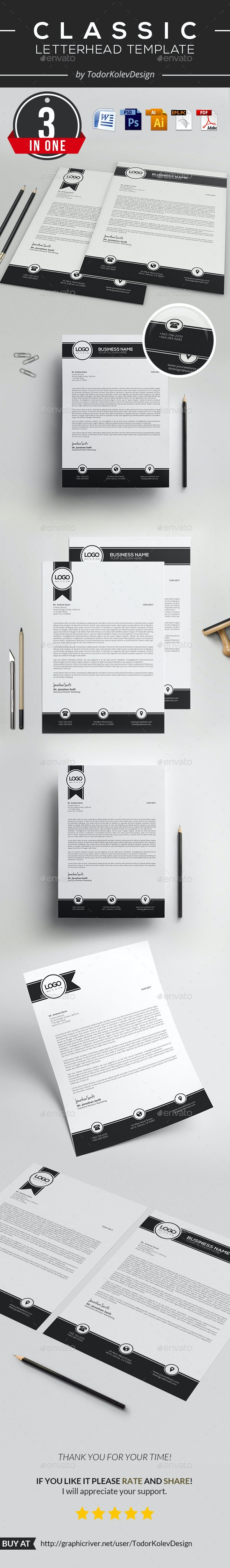 Classic Letterhead - Stationery Print Templates