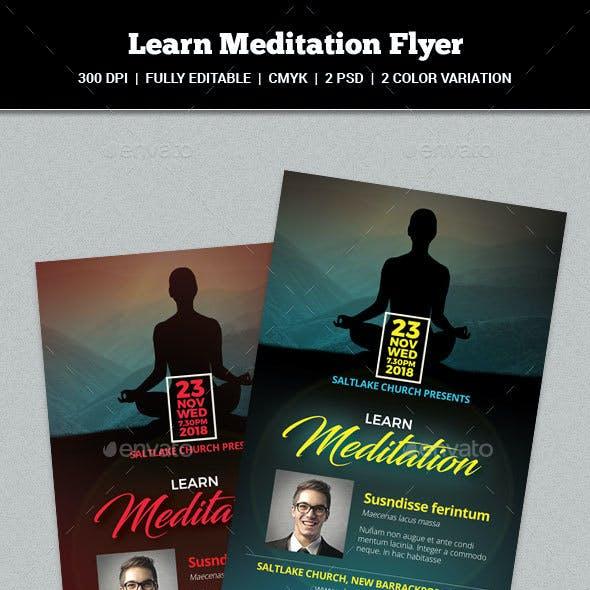 Learn Meditation Flyer