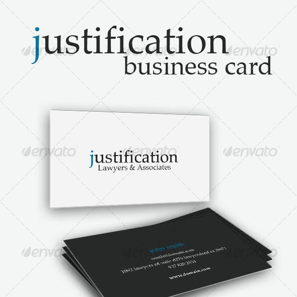 Justification Business Card