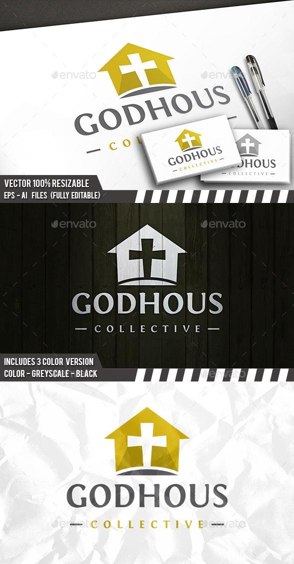 God House Logo Template