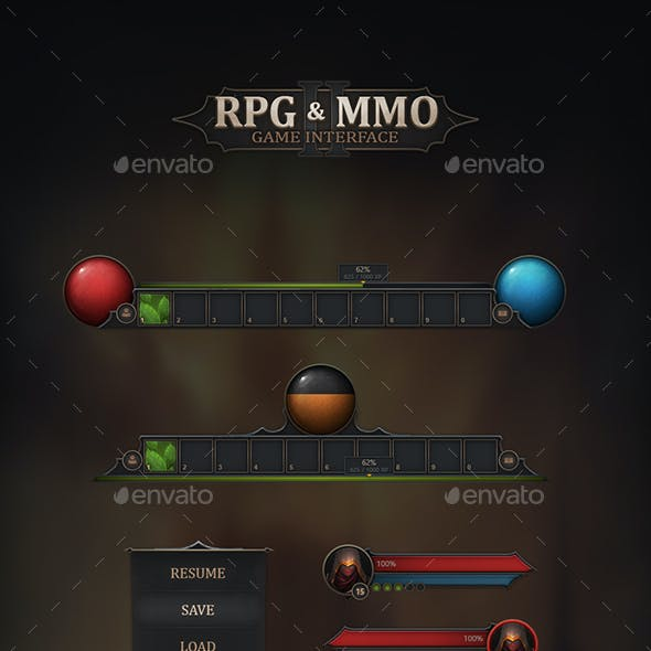 RPG & MMO Game User Interface