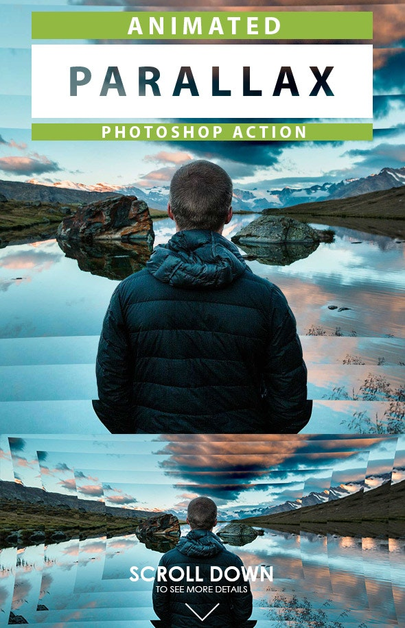 Animated Parallax Photoshop Action - Photo Effects Actions