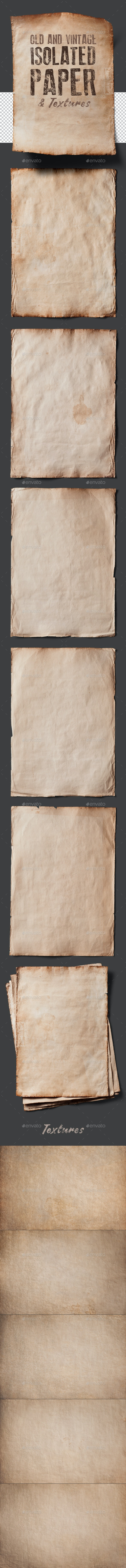 Old Isolated Papers and Textures - Paper Textures