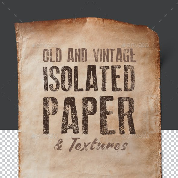 Old Isolated Papers and Textures